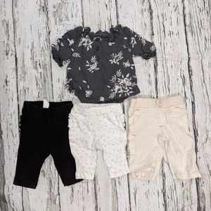 4 pack 0-3 month outfit set Old Navy